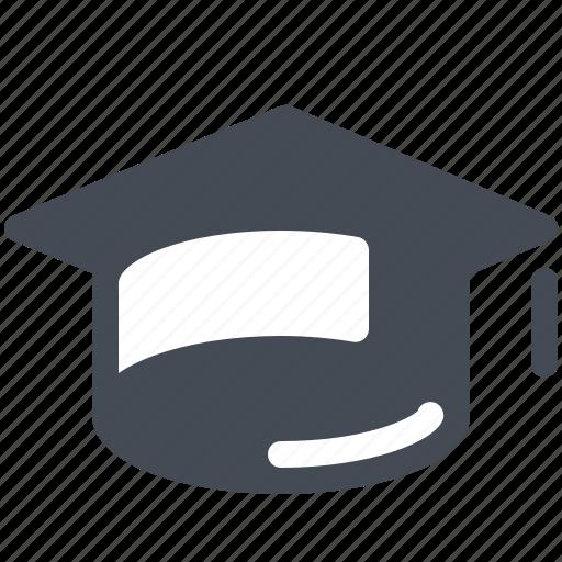 education, graduate, hat, mortarboard, school, study icon