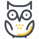 education, knowledge, learn, owl, school, study, wisdom icon