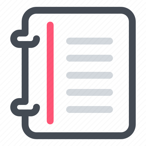 Education, learn, notebook, paper, school, study icon - Download on Iconfinder