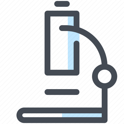 education, laboratory, learn, microscope, school, science, study icon