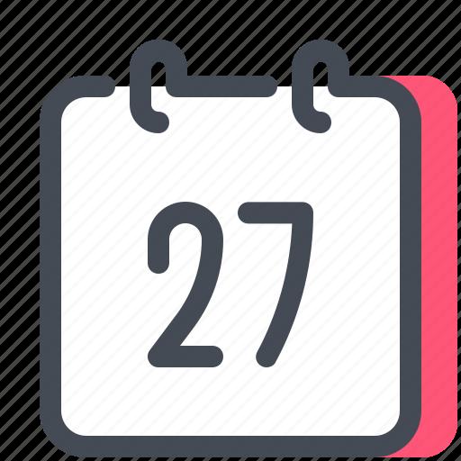 calendar, day, education, learncalendar, month, school, study icon