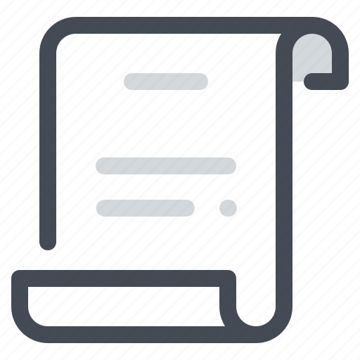 document, paper, school, script, scrolling, statement, text icon
