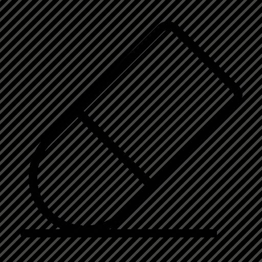 clean, delete, erase, eraser, remove icon