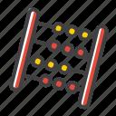 abacus, calculate, calculator, mathematic, mathematics, school calculator icon