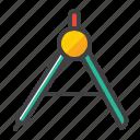 circle, geometric, period circle, school tool icon