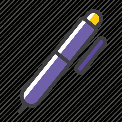 ballpoint, ink, pen, write icon