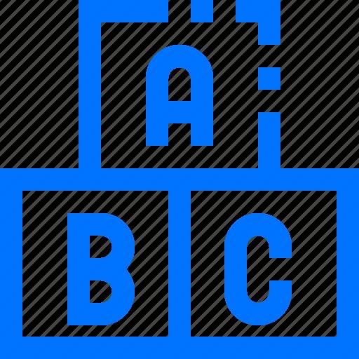 abc, blocks, education, learn, learning, school, study icon