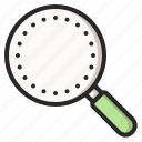 find, glass, magnifier, magnifying, research, search, zoom