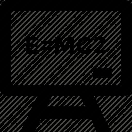 einstein formula, emc2, equation, physics, science icon