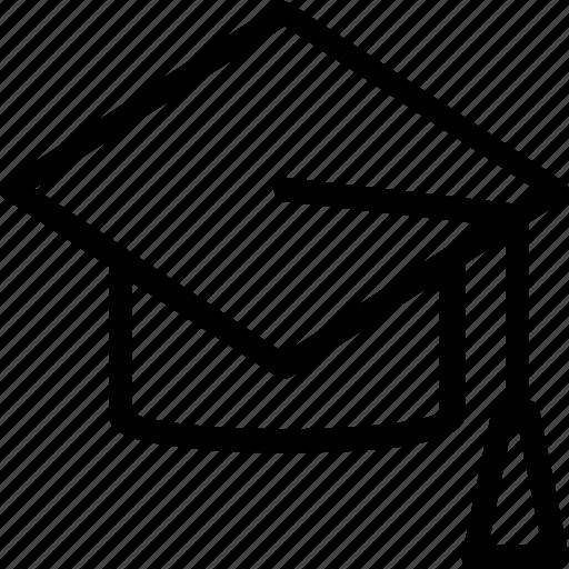 education, graduate cap, graduation, mortarboard, scholar icon