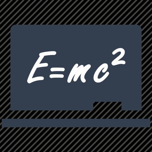 blackboard, chalk, chalkboard, education, formula, physics, writing icon