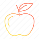 apple, food, fruit, school and education icon