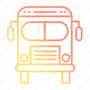 bus, school and education, transport, transportation icon