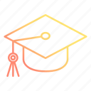 education, graduation, hat, knowledge, school and education, study icon