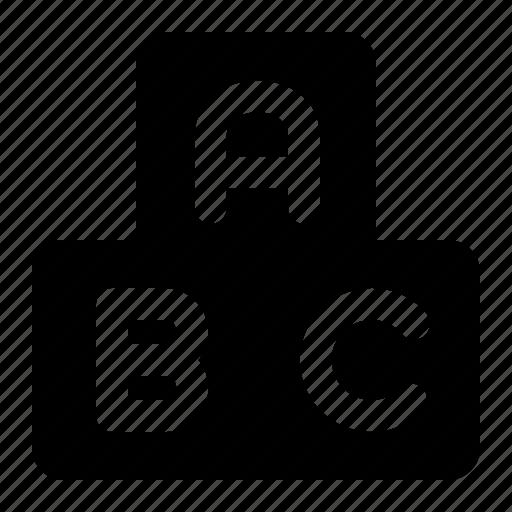 Abjad, education, school, study icon - Download on Iconfinder