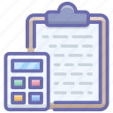 accounting, arithmetic, mathematic calculations, maths, tax calculations icon