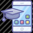 e education, e learning, educational app, mobile education, online education icon