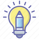 creative design, creative idea, creative process, design idea, innovation icon