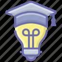 academic idea, creative education, creative knowledge, educational idea, innovative education icon