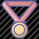 award medal, gold medal, medal, military medal, pendant icon