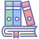 archives, course books, files, folders, library icon