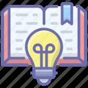 creative book, creative education, creative knowledge, educational idea, innovative book icon