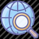 global search, search browser, search optimization, seo, worldwide search icon