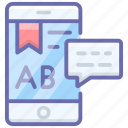 e education, e learning, educational app, mobile education, online education, online lesson icon