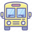 school bus, school conveyance, school transport, van, vehicle icon