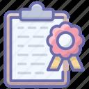 exam result, grade report, grade sheet, marks sheet, student grades icon