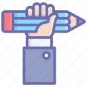 artist, educational grip, knowledge grip, pencil grip, writer icon