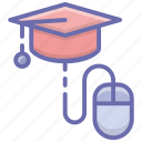 e learning, online degree, online education, online learning, virtual education icon
