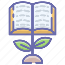 academic boost, educational growth, knowledge advancement, knowledge development, knowledge growth icon