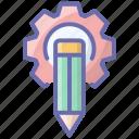 art tools, composing, copywriting, custom design, design setting icon