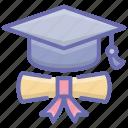 award certificate, certificate, deed, diploma, educational degree icon