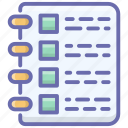 checklist, document, exam paper, file, report, test paper, text sheet icon
