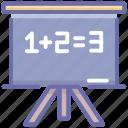 basic education, education, educational presentation, mathematics class, primary education icon