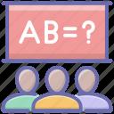 class questions, class quiz, class test, maths class, maths quiz icon