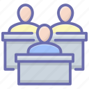 classroom, lecture, lecture hall, students class, training, workshop icon