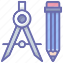 drawing tools, geometrical tools, geometry, mathematics tools, stationery icon