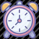 alarm alert, alarm clock, analogue alarm, morning alarm, ringing clock icon