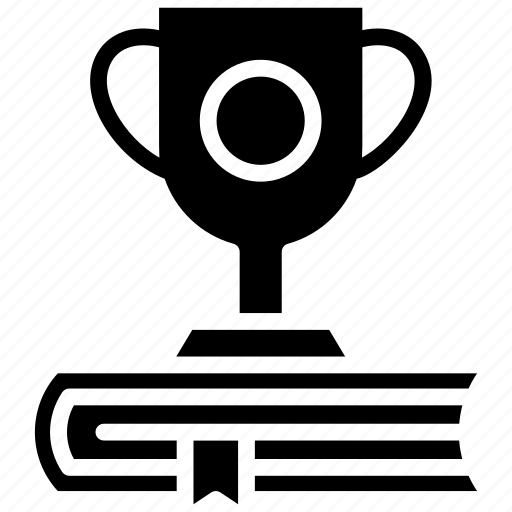 award trophy, chalice, champion trophy, educational award, trophy, winner cup icon