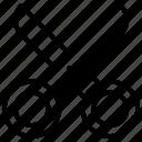 crop, cutter, pincer, scissors, tailor scissor icon