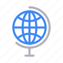 globe, map, office, school, world