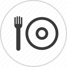fork, lunch, menu, plate icon