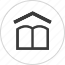 book, house, learn, learning icon