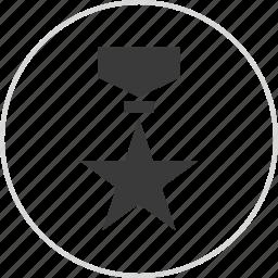 honor, medal, ribbon, star icon