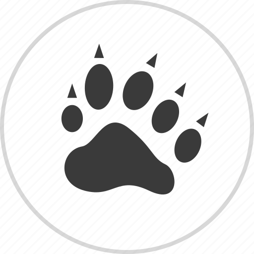 animal, cart, cheetah, hand, paw, tiger icon