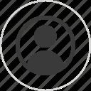 person, profile, staff icon
