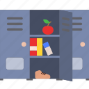 cabinet, locker, school, storage icon